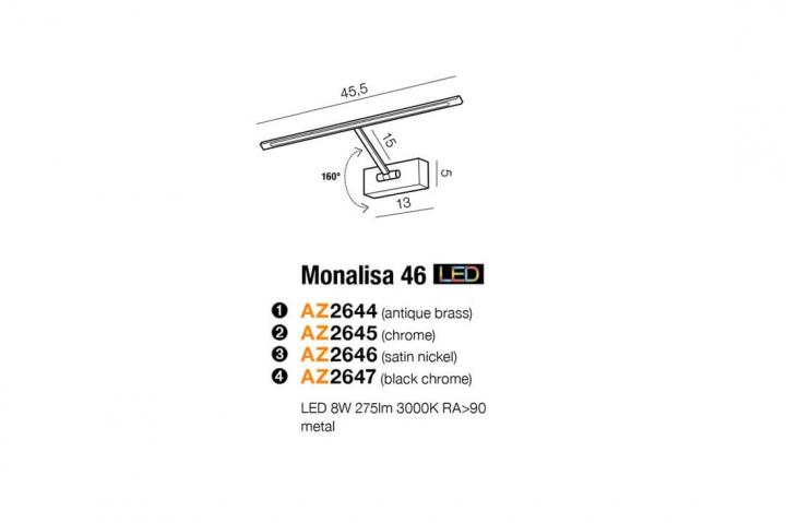 Бра AZzardo MONALISA 46 AZ2645