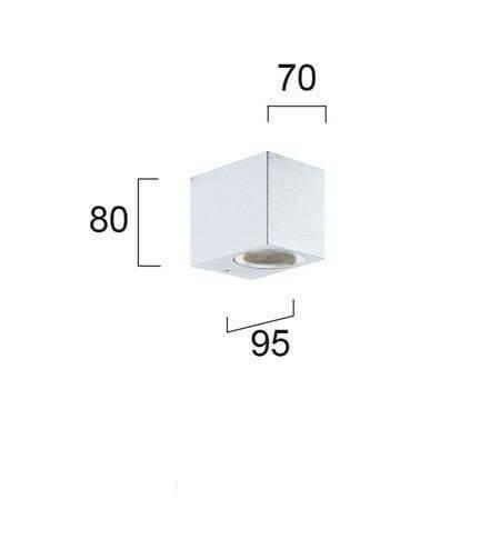 Настінний вуличний світильник Viokef TILOS 4099501
