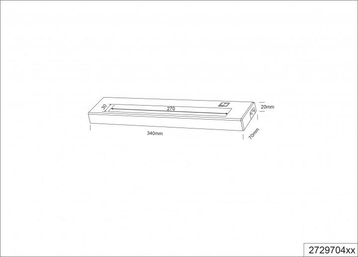 Мебельная подсветка TRIO ALINO 272970401