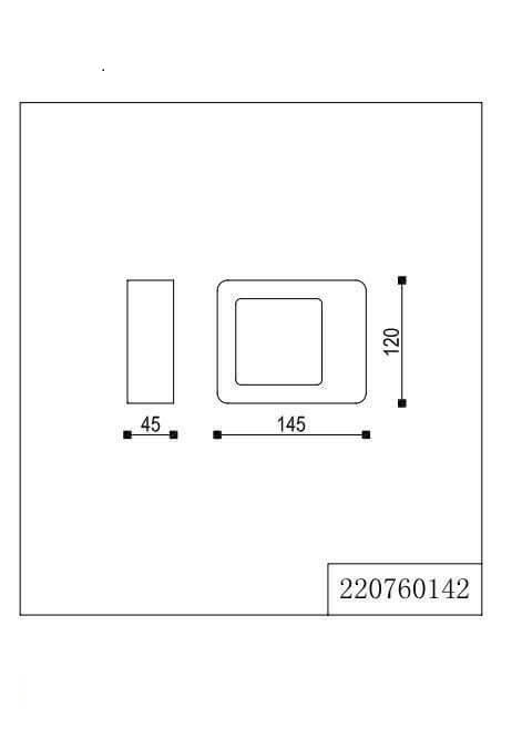 Настінний вуличний світильник TRIO RENO 220760142