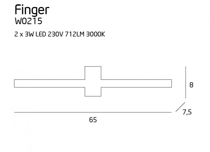 Бра Maxlight FINGER ROUND W0215