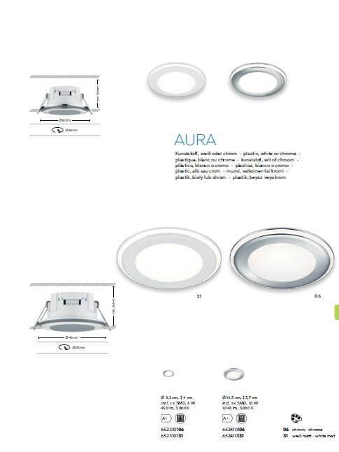 Точечный светильник TRIO AURA 652310106