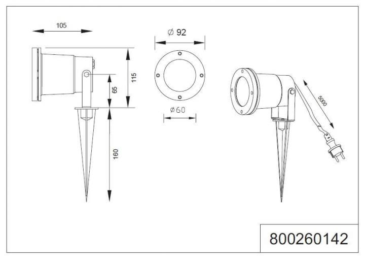 Архитектурный светильник TRIO UBANGI 800260142