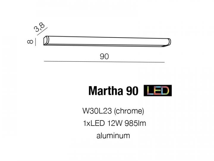 Бра AZzardo MARTHA 90 AZ1681 (W30L23CH)