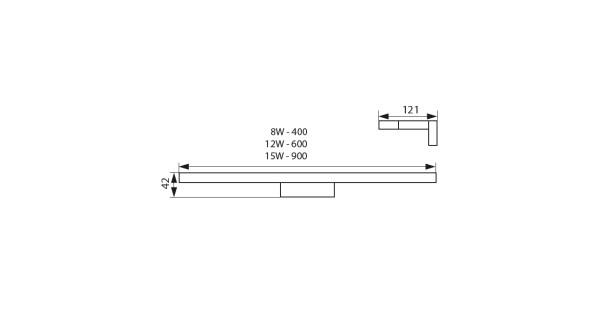 Бра Kanlux ASTEN LED IP44 8W-NW 26680