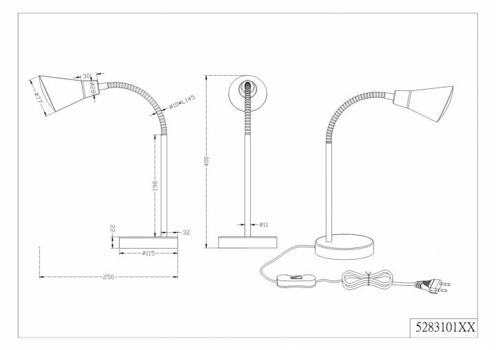Настольная лампа TRIO PRETO 528310107