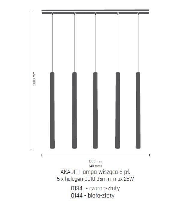 Підвісний світильник Amplex AKADI 0144