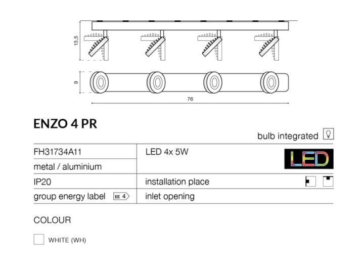 Бра AZzardo ENZO 4PR AZ0672 (FH31734A11 )