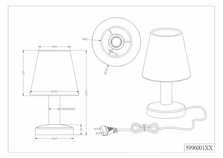 Настільна лампа TRIO MATS 599600101