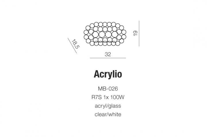 Бра AZzardo ACRYLIO AZ0052 (MB026CLWH )