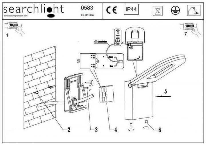 Настінний вуличний світильник Searchlight MANHATTAN 0583GY