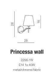 Бра AZzardo PRINCESSA AZ0723 (22861W )