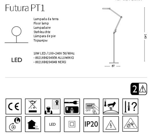 Торшер Ideal Lux FUTURA 204956