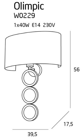 Бра Maxlight OLIMPIC W0229