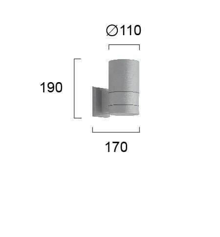Настінний вуличний світильник Viokef SOTRIS 4038300