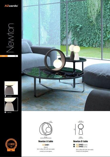 Настільна лампа AZzardo NEWTON A AZ3461