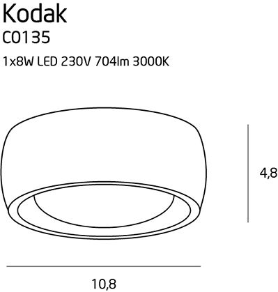 Точечный светильник Maxlight KODAK II C0135