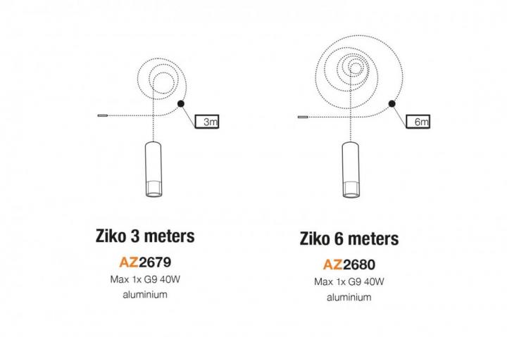 Патрон зі шнуром AZzardo ZIKO G9 3 meters AZ2679