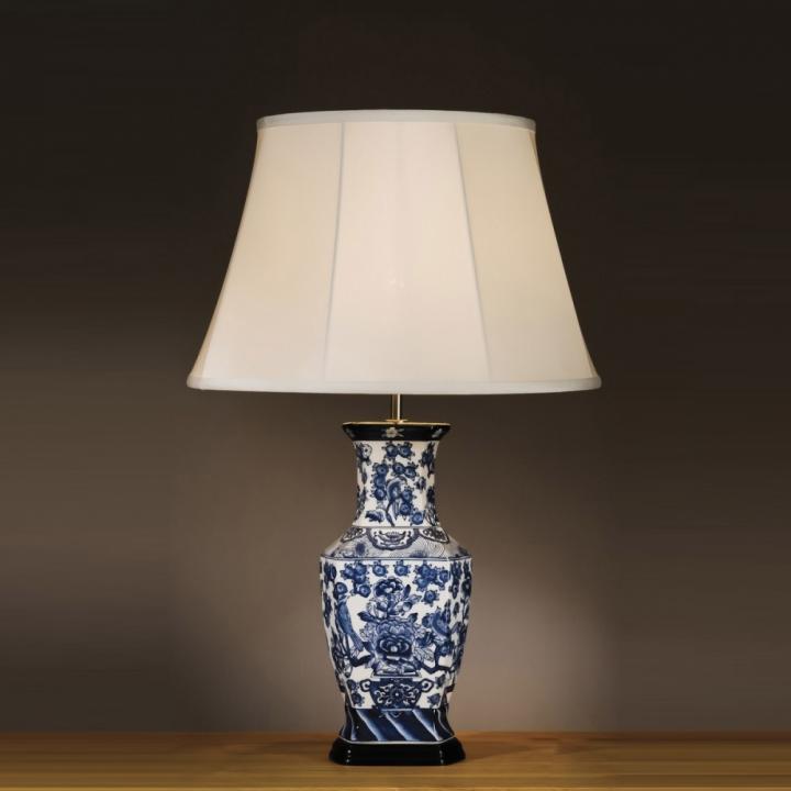 Настільна лампа Elstead BLUE HEXAGON VASE BLUE HEX/TL