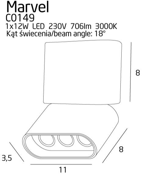 Точечный светильник Maxlight MARVEL C0149