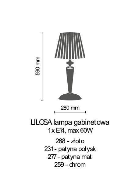 Настільна лампа Amplex LILOSA 268