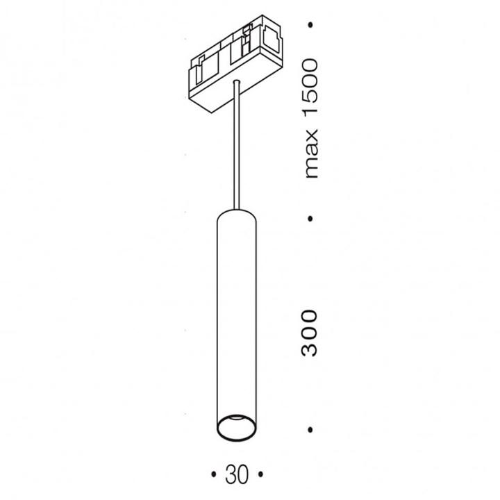 Магнитный светильник LTX IN_LINE TUB S P 300 06.0331.8.940.WH