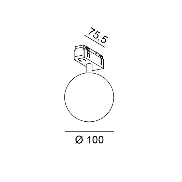 Магнитный светильник LTX IN_LINE SFERA 06.1001.5.930.WH