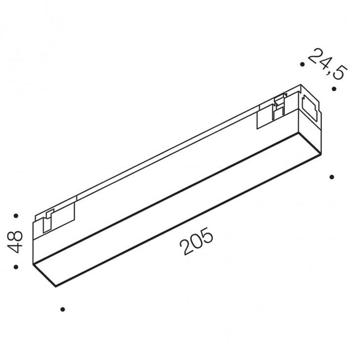 Магнитный светильник LTX IN_LINE LINEA 205 06.2050.6.930.WH