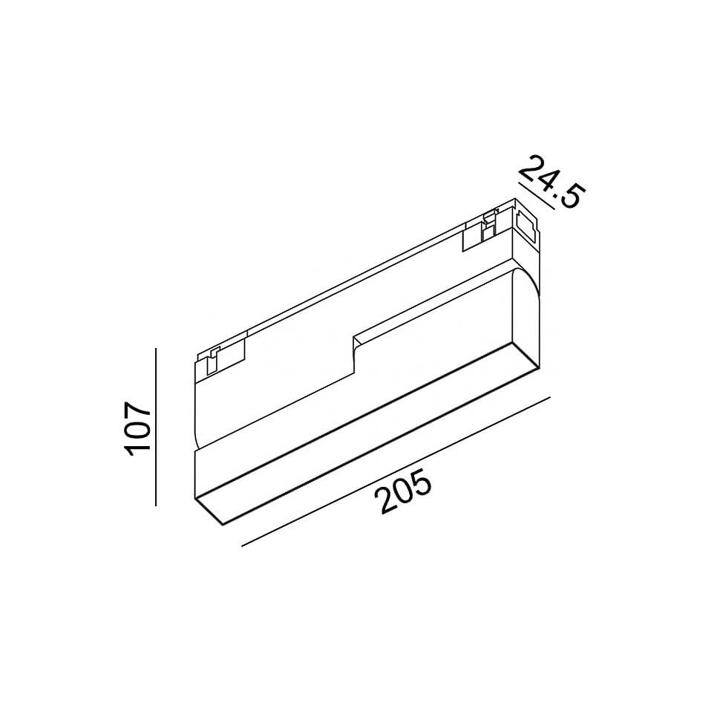Магнитный светильник LTX IN_LINE LINEA B 205 06.2053.6.930.WH